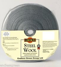 Liberon Steel Wire Wool - use to apply wax polish - Ultra fine grade 0000 - 1kg
