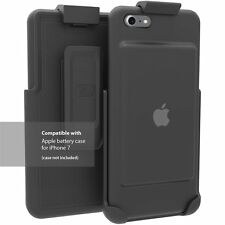 Accessories Smart Battery Case For Apple iPhone 7 Rugged Belt Clip Holster Black