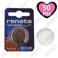 Renata Batteria CR2320 Litio 3V Pulsante Batteria Cr 2320 Pile A Bottone X50