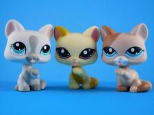 Littlest Pet Shop LPS Lot of 3 Paw Raised / Licking Kitty Cats #1692 #1363 #1472