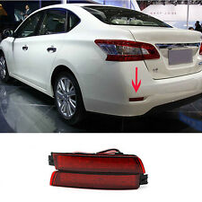Red Led Rear Bumper Reflector Brake Fog Light Lamp For NISSAN SENTRA 2013 2014