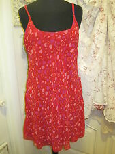 INNER MOST VINTAGE Babydoll RED HEARTS Lined Night Gown Nightie SHEER Size M