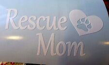 Rescue Mom With Paw Print in Heart Sticker Decal