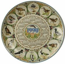 Wedgwood China Waders British Birds 1990 Calendar Plate