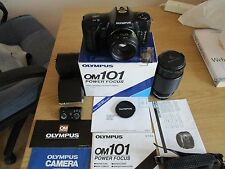 Olympus OM101 Con Lente De Zoom Makinon y Flash T20