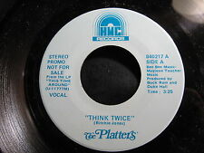"FUNK SOUL promo 45: THE PLATTERS Think Twice on HMC 840217 ""HEAR mp3*"