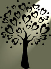 Shabby Chic Stencil Love heart tree Rustic Mylar Vintage style A4 297x210mm