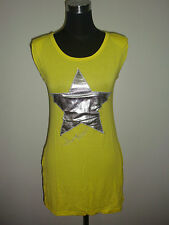 start patch yellow cotton dress