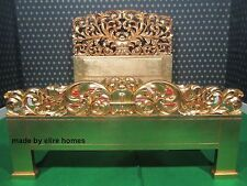 Baroque King Size carved French luxury very chich rococo gilt gold leaf bed