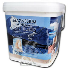 Magnesium Chloride Flakes 4Kg Bucket FOOD Grade. No Lead No Mercury. For Bath.
