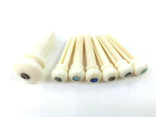 Camel Bone Abalone Dot Acoustic Guitar Bridge Pin Set w/Endpin BP-2854-081