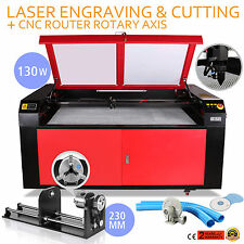 CO2 Laser 130W Graviermaschine Engraving Cnc Rotary Axis Air Assist Cutter Usb