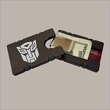 AUTOBOTS LOGO Billet Aluminum Wallet with removable Money Clip