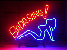 New Bada Bing Girl Neon Light Sign LARGER 20''X17'' S2 shipped from USA