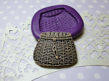 Silicone Mold Miniature Fishing Basket (31mm) Cake Decoration Clay Jewelry Resin