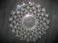 "FOSTORIA GLASS - 7 1/2"" SALAD OR SANDWICHE PLATE, AMERICAN PATTERN"