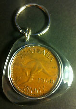 Awesome Collectible Australian 1960 Y. Perth Mint Birthday Penny Key Ring
