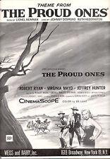 "THE PROUD ONES Sheet Music ""The Proud Ones"" Robert Ryan Jeffrey Hunter V. Mayo"