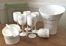 ICE IMPERIAL MOET CHANDON ICE CUBE HOLDER & SCOOP + 6 ICE  FLUTES ICE BUCKET NEW