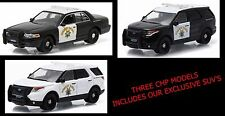 Greenlight CHP California Highway Patrol Ford CV & PI SUV      3 Police Car Set