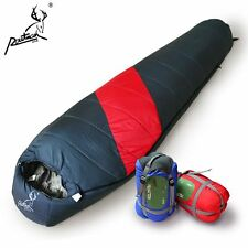 -5 ~ 20℃ Degree Sleeping Bag Cold Weather Outdoor Camping Mummy New + Bag Red