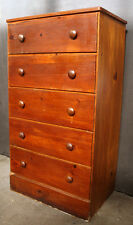 Vintage Antique Solid Wood Wooden Bedroom Dresser Bachelor Chest Drawer Knob