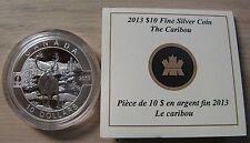 2013 Proof $10 O Canada - Caribou .9999 silver COIN & COA ONLY