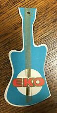 Vintage 1960's Eko Guitar Hang Tag, Beatle Bass, Cobra