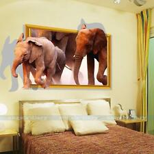 3D Elephant Removable Vinyl Art Wall Sticker Mural Decal DIY Home Decor