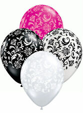 "10 pc - 11"" Elegant Damask Latex Balloons Happy Birthday Party Wedding Baby Pink"
