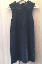 See By Chloe Black Crochet Dress