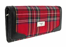 Ladies Red Royal Stewart Scottish Tartan Long Wallet Purse Brand New TB8000