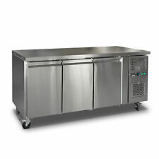 Commercial 3 Door Freezer Work bench Counter Or Under Bench Stainless Steel