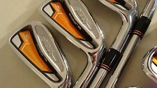 Cobra AMP FORGED Iron Set 4-PW RH Steel Stiff+  flex NICE!   Priority US Ship!