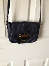 Michael Kors Charlton Navy Blue Flap Crossbody Handbag EUC