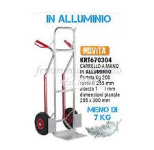 CARRELLO PORTAPACCHI ALLUMINIO PIUMA KG 200 PNEOMATICHE 255
