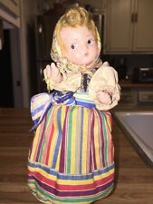 "ANTIQUE 1939 WORLDS FAIR JOINTED COMPOSITION DOLL~8"" TALL"