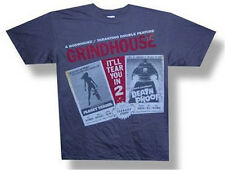 "GRINDHOUSE ""DRIVE IN"" IMAGES GREY T-SHIRT MEDIUM NEW DEATH PROOF PLANET TERROR"