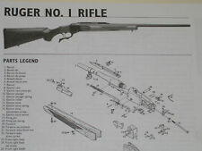 RUGER #1 RIFLE EXPLODED VIEW