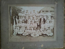 PHOTOGRAPH C1910 A GROUP PICTURE OF FACTORY WORKERS AND BOYS LEYTON? COBBLERS?