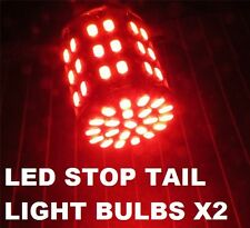 BRIGHT 1142 BA15D RED LED Stop Tail Lights Bulbs Even Side Pins .