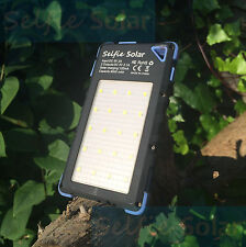 Selfie Solar Fast Phone Charger - portable, waterproof, dual USB, and LED torch
