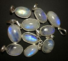 10 RAINBOW MOONSTONE 925 STERLING SILVER OVERLAY BABY PENDANT WHOLESALE LOT 4019