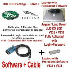 Jaguar Land Rover Diagnostics kit IDS SDD JLR 130 +138 + Cable + Laptop Deal
