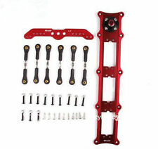 "Miracle Alu Triple Servo Rudder Mount/Rudder Tray Set w/ 4.5"" Double Arm Kit Red"