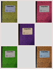 (5 Pk)New Composition Notebook by Norcom College Ruled~Neon Colors FREE SHIPPING