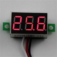 DC 0-30V 3 Wire Red LED Display Digital Voltage Voltmeter Panel