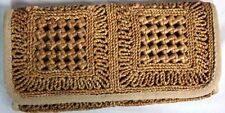 Women's Vintage The Bon Clutch Purse Hand Bag Woven Natural Boho Bohemian Hippy