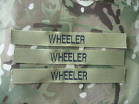 MTP GREEN MILITARY NAME TAPES x3 SEW ON for MTP MULTICAM KIT ARMY CADETS