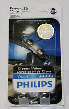 PHILIPS LED FESTOON 30MM 6000K X 1 BULB X-TREME VISION BRIGHT 6428 12818 DE3021